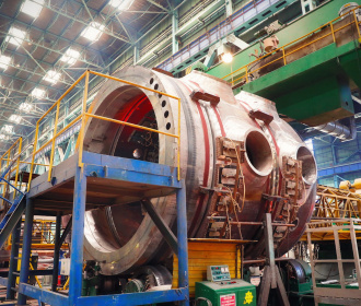 Atommash has launched the welding of the upper semi-vessel of the RPV for Unit No.2 of Rooppur NPP
